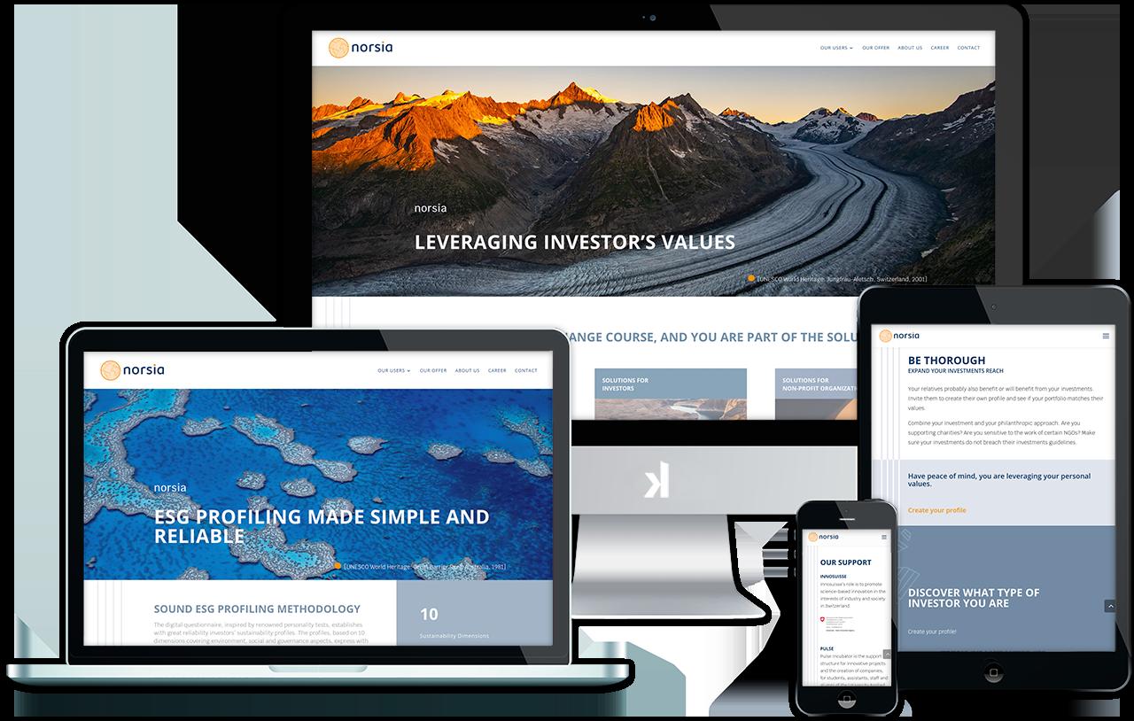 Norsia webdesign site internet réalisé par Atelierlak